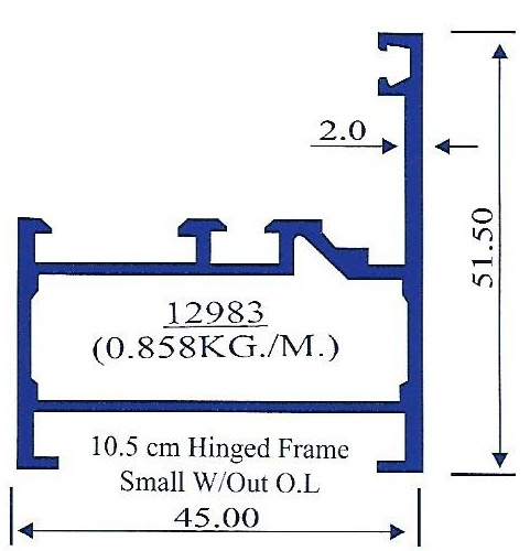 10.5 cm Hinged Frame Small W/Out OL