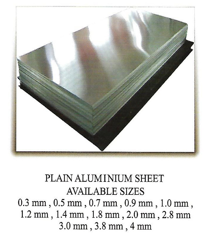 Plain Aluminium Sheet Available sizes