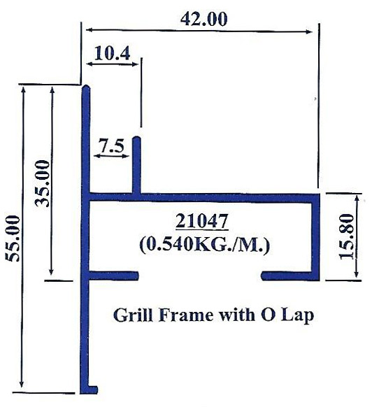 Grill Frame with O lap