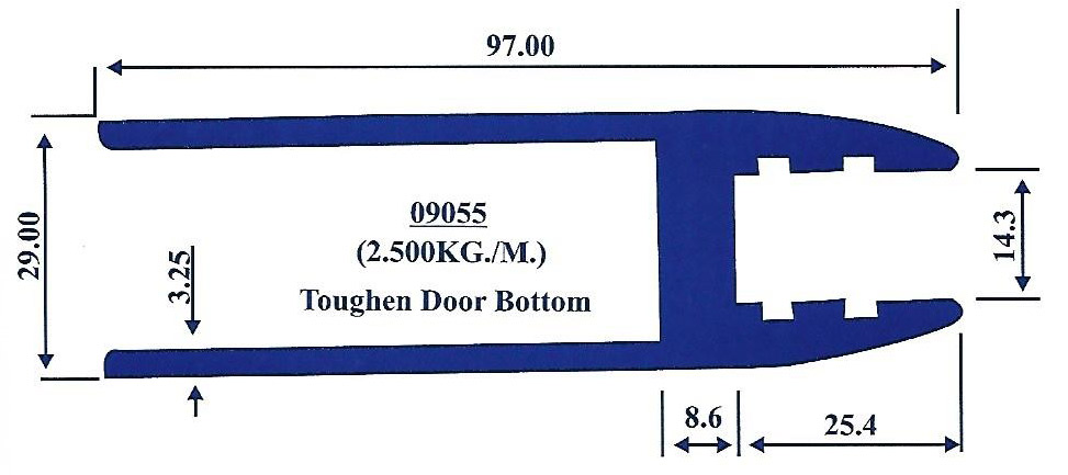 Toughen Door Bottom